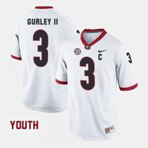 Kids UGA #3 Todd Gurley II White College Football Jersey 708170-294