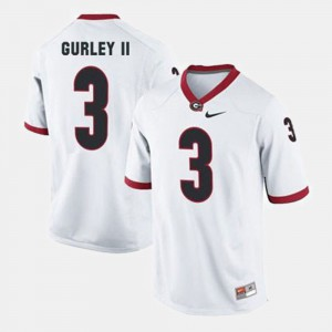 For Men Georgia #3 Todd Gurley II White College Football Jersey 152556-905