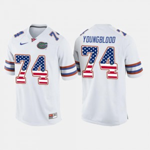 Men's UF #74 Jack Youngblood White US Flag Fashion Jersey 318511-955