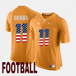 Men's UT #11 Joshua Dobbs Orange US Flag Fashion Jersey 955029-515