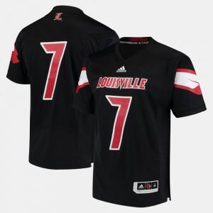 For Men's University Of Louisville #7 Black 2017 Special Games Jersey 600249-584