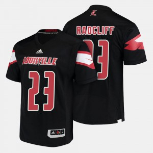 For Men's Louisville #23 Brandon Radcliff Black College Football Jersey 311237-395