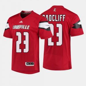 Men's UofL #23 Brandon Radcliff Red College Football Jersey 634862-852