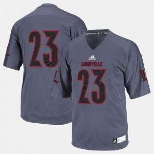 For Men Louisville Cardinal #23 Black College Football Jersey 336880-299