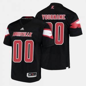 Mens Louisville Cardinals #00 Black College Football Custom Jersey 613262-300