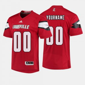 For Men U of L #00 Red College Football Customized Jerseys 309790-499