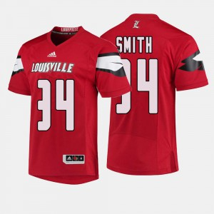 Men's Louisville Cardinals #34 Jeremy Smith Red College Football Jersey 845301-700