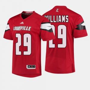 Men UofL #29 Malik Williams Red College Football Jersey 909705-649