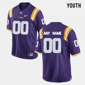 Kids Louisiana State Tigers #00 Purple College Limited Football Customized Jersey 246508-750
