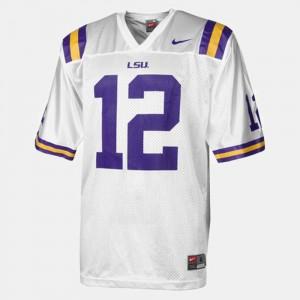 Mens LSU #12 Jarrett Lee White College Football Jersey 592045-421