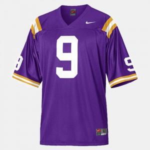 Kids Louisiana State Tigers #9 Jordan Jefferson Purple College Football Jersey 750911-924