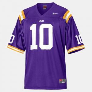 Men's LSU #10 Joseph Addai Purple College Football Jersey 582756-771