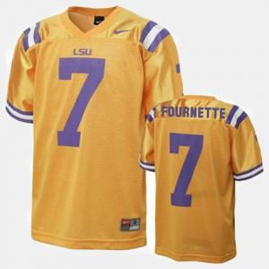 Kids Louisiana State Tigers #7 Leonard Fournette Gold College Football Jersey 932540-256