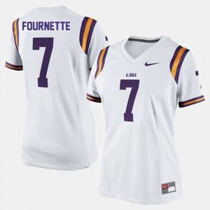 Ladies Tigers #7 Leonard Fournette White College Football Jersey 794246-470