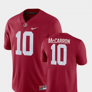 Men Bama #10 AJ McCarron Crimson Game College Football Jersey 601752-385