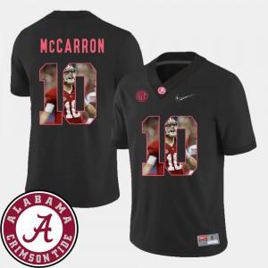 Men Roll Tide #10 AJ McCarron Black Pictorial Fashion Football Jersey 799936-987