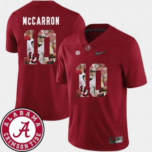 Mens Bama #10 AJ McCarron Crimson Pictorial Fashion Football Jersey 870021-171