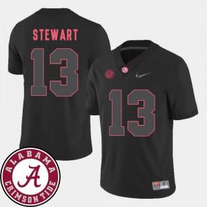 Mens Roll Tide #13 ArDarius Stewart Black College Football 2018 SEC Patch Jersey 436498-534