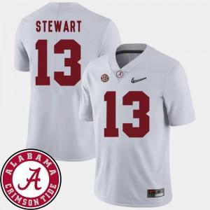 For Men's Alabama Roll Tide #13 ArDarius Stewart White College Football 2018 SEC Patch Jersey 637448-171