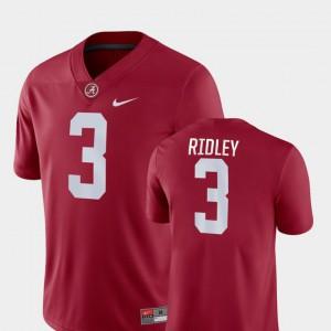 Men's University of Alabama #3 Calvin Ridley Crimson Game College Football Jersey 630398-564