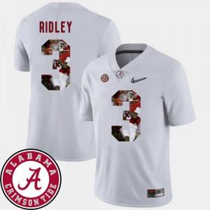 For Men Bama #3 Calvin Ridley White Pictorial Fashion Football Jersey 318630-441