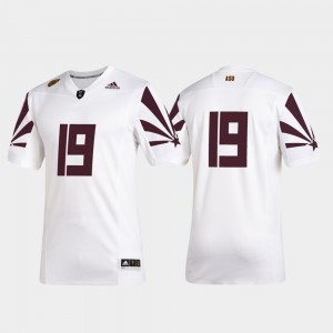 For Men's Arizona State University #19 White 2019 Special Game Premier Football Jersey 727375-956