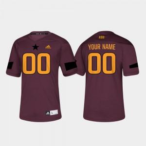 Men's Arizona State University #00 Maroon College Football Customized Jerseys 925453-924