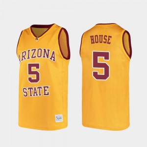 For Men ASU #5 Eddie House Gold Alumni College Basketball Jersey 161060-368