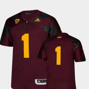 Men Arizona State University #1 Maroon College Football Premier Jersey 573038-926