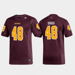 For Men Arizona State Sun Devils #48 Terrell Suggs Maroon Replica Alumni Football Jersey 304715-589