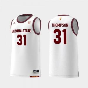 For Men's ASU #31 Trevor Thompson White Replica College Basketball Jersey 233962-488