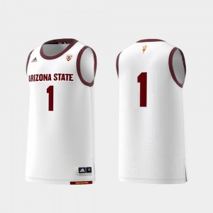 For Men Arizona State #1 White Basketball Swingman College Replica Jersey 821180-402