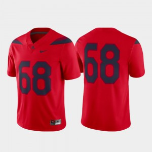 For Men U of A #68 Red Game Alternate College Football Jersey 292175-835