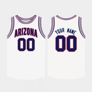 For Men Arizona Wildcats #00 White College Basketball Customized Jerseys 692127-232