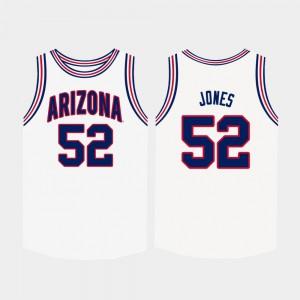 For Men's University of Arizona #52 Kory Jones White College Basketball Jersey 897762-296