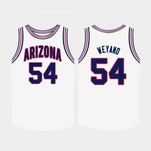 For Men's U of A #54 Matt Weyand White College Basketball Jersey 597988-808