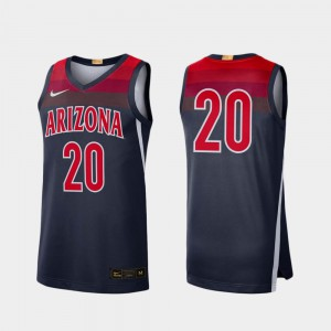 For Men University of Arizona #20 Navy Limited College Basketball Jersey 629787-997