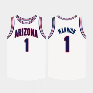 Men Arizona Wildcats #1 Nico Mannion White College Basketball Jersey 224268-141