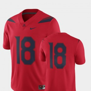 Mens University of Arizona #18 Red College Football 2018 Game Jersey 865962-352