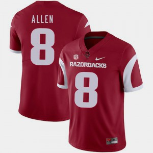Men University of Arkansas #8 Austin Allen Cardinal College Football Jersey 509369-246