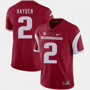 Men Arkansas #2 Chase Hayden Cardinal College Football Jersey 946365-792