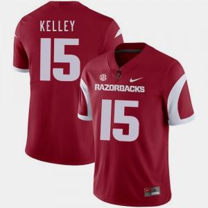 For Men Razorbacks #15 Cole Kelley Cardinal College Football Jersey 267879-327