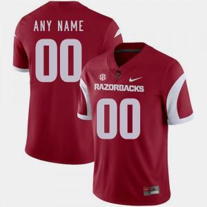 Men's Arkansas #00 Cardinal College Football Customized Jersey 327671-891