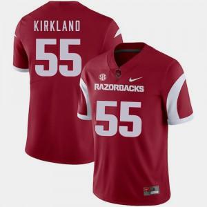 Men's Razorbacks #55 Denver Kirkland Cardinal College Football Jersey 999325-292