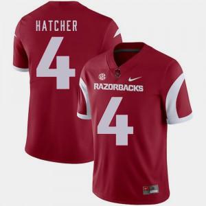 Men Arkansas #4 Keon Hatcher Cardinal College Football Jersey 390821-927