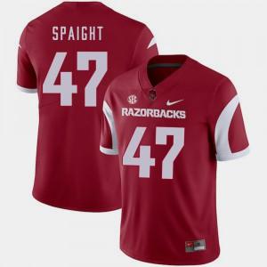 Mens Arkansas Razorbacks #47 Martrell Spaight Cardinal College Football Jersey 562900-600
