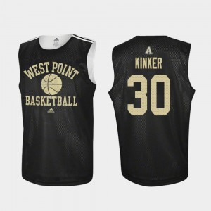 Men's Army #30 Ben Kinker Black Practice College Basketball Jersey 274530-381