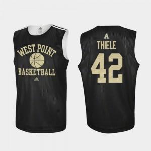 Mens West Point #42 Brendan Thiele Black Practice College Basketball Jersey 655063-498