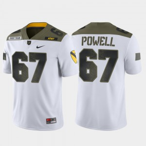 Mens West Point #67 Dean Powell White 1st Cavalry Division Limited Edition Jersey 357822-783
