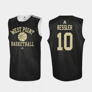 Men's Army Black Knights #10 Jacob Kessler Black Practice College Basketball Jersey 860394-189
